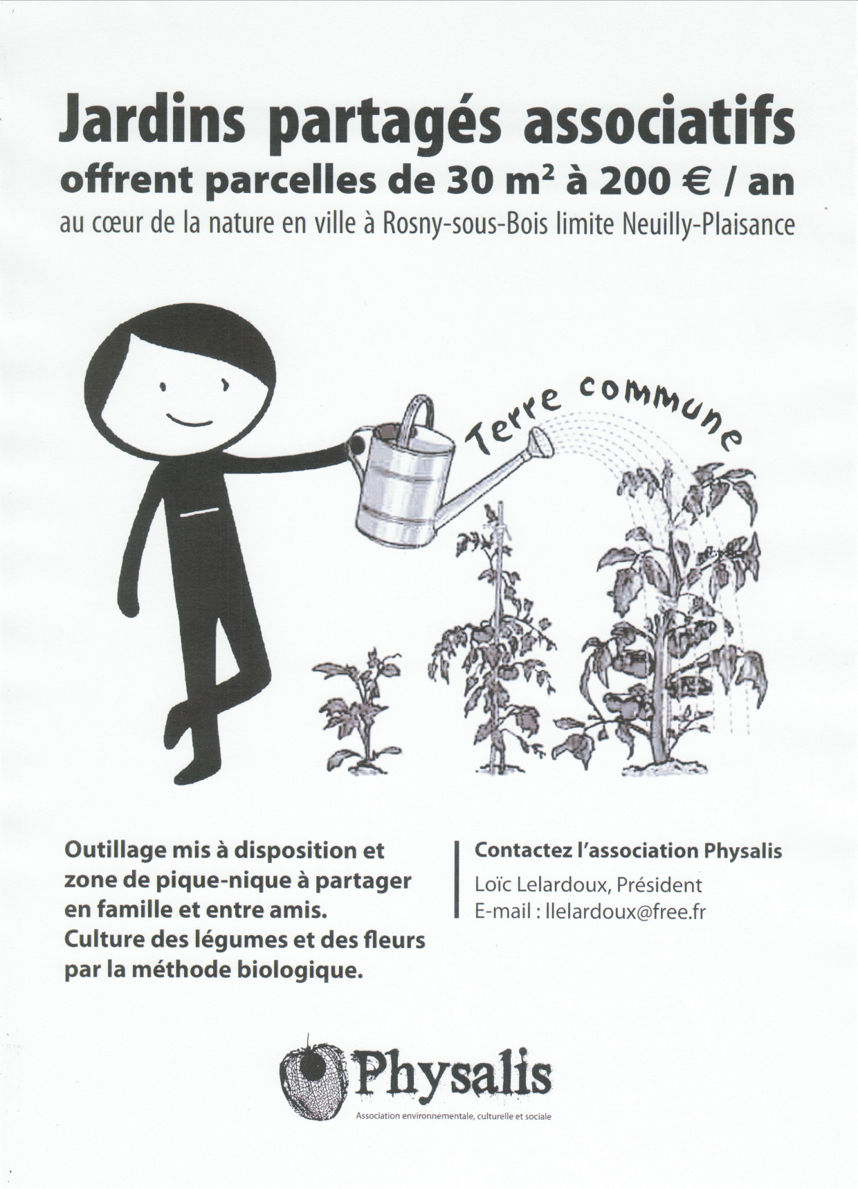 Jardins partagés associatifs